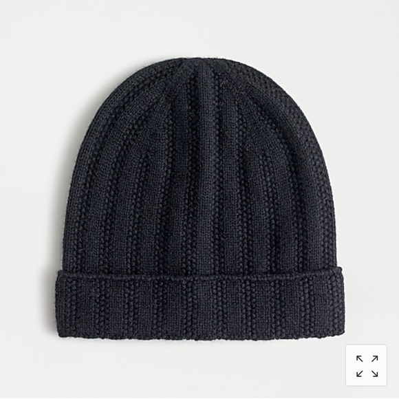 New With Tags. Super soft black cashmere beanie.